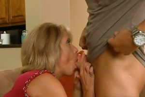 bawdy older housewife sucks and receives fucked