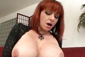 breasty aged redhead receives hard boner up her