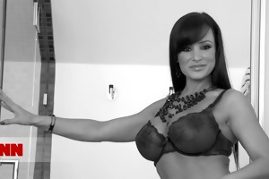 brunette hair mother i with large fake melons