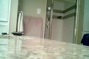 older jenny caught on shower spy webcam