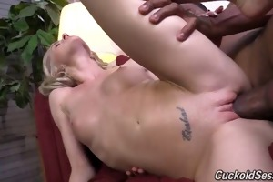 slender wife in humiliation session with gigantic