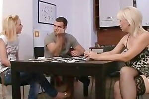 disrobe poker leads to pussy toying