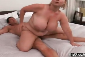 concupiscent golden-haired big boobed d like to